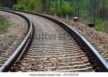 Rail-train detail - Italy, Piemonte - stock photo