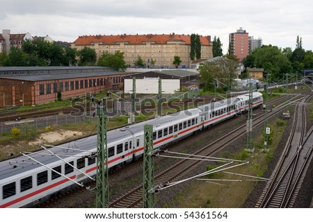 "Railroad around ""Gleisdreieck"" in Berlin - stock photo"
