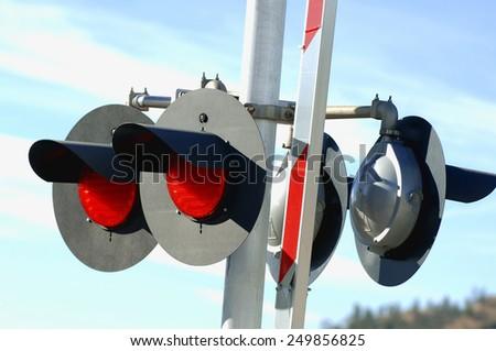 Railroad Crossing Light  - stock photo