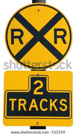 Railroad Crossing sign - stock photo