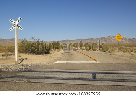 Uncontrolled Railroad Crossing Stock Images similar t...