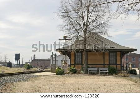 Railroad depot - stock photo