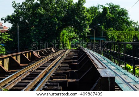 Railroad in Thailand.