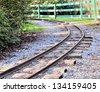 Railroad in the park - stock photo