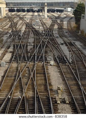 Railroad in Toronto, Canada - stock photo