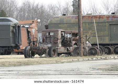 Railroad Junkyard - stock photo