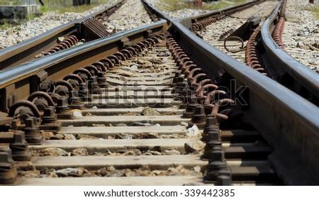 Railroad / Rail way - stock photo