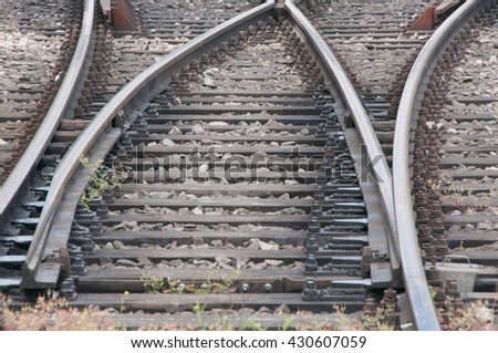 Railroad rail with diverter