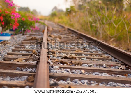 Railroad scenes - stock photo