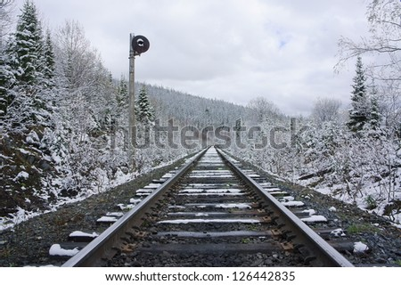Railroad stretching into the distance