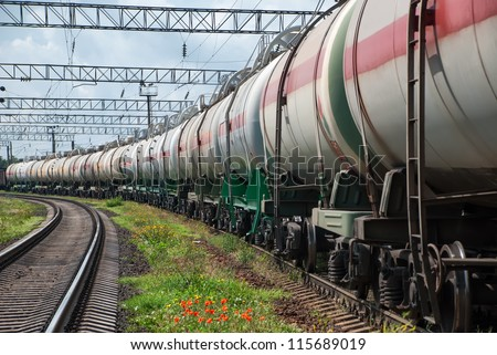 railroad tank car - stock photo