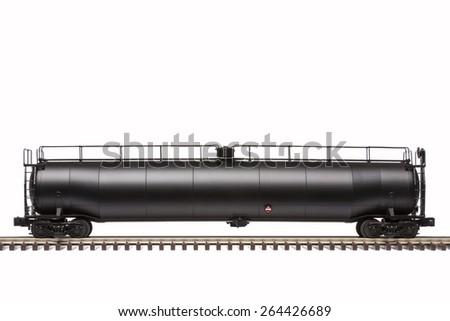 Railroad Tank Car - stock photo