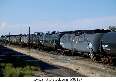 Railroad tank cars.
