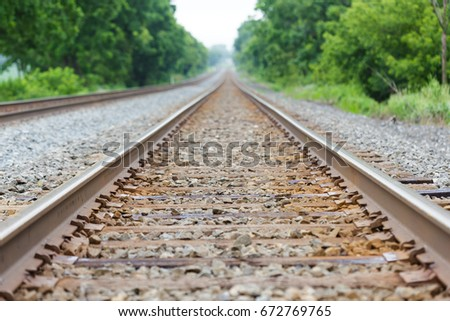 Railroad track - Shallow depth of field