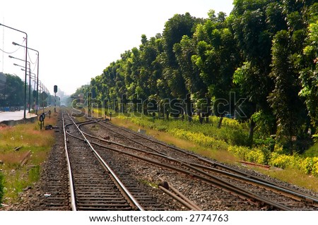 railroad tracks in bangkok
