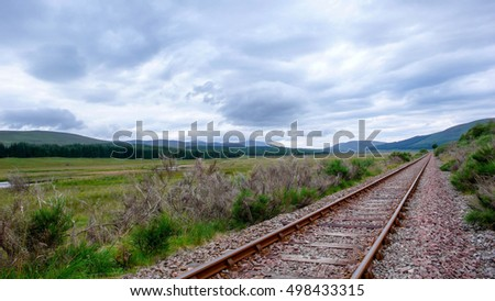 railroad tracks in the Scottish highlands