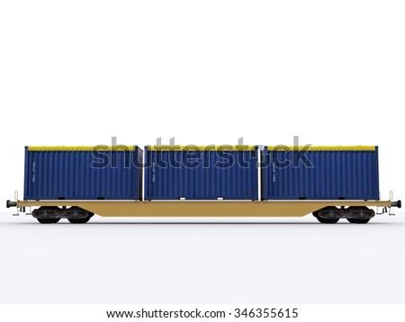 railroad waggon - stock photo