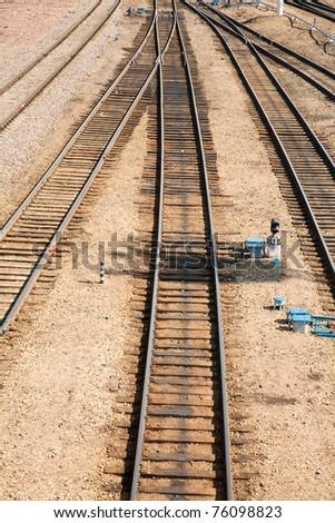 railroads - stock photo