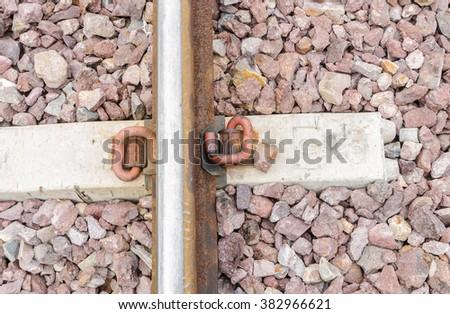 railway background - stock photo