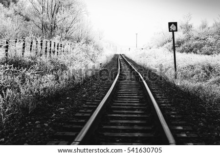 railway,black and white photography