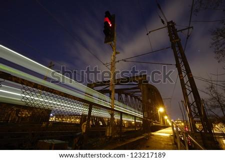Railway bridge, Prague, Czech Republic - stock photo