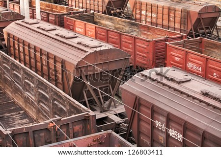 railway carriage transport still storage - stock photo