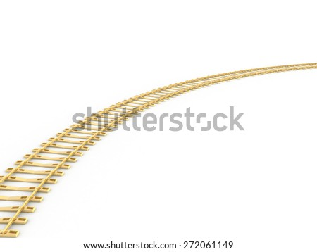 Railway extension in the dawn Raster 2 - stock photo