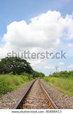 Railway goes into horizon (Portrait Position)