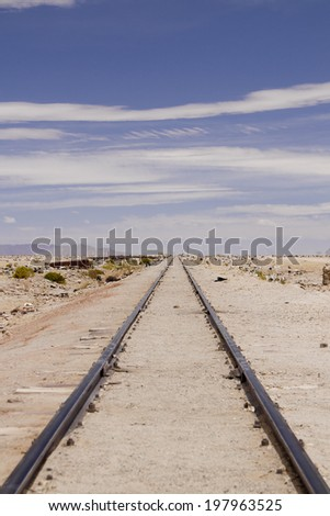 Railway going to infinity