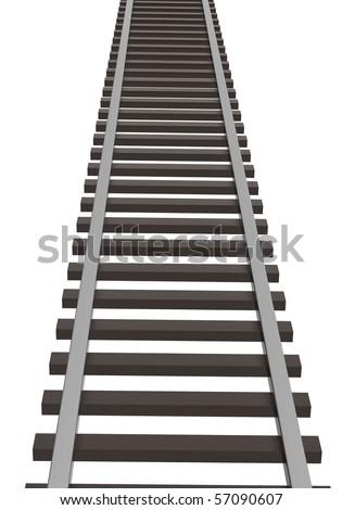 Railway going to zenith - stock photo