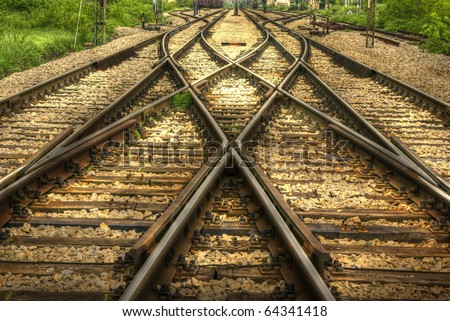 railway (HDR image) - stock photo