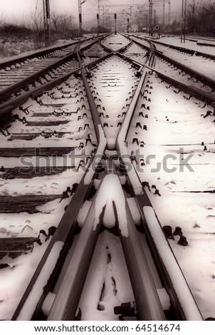 railway (HDR image) - stock photo