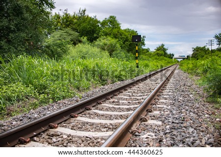 Railway in countryside