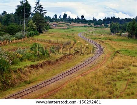 Railway in Kenya - stock photo