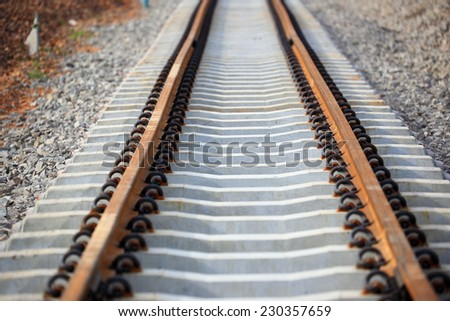Railway in process - stock photo