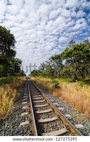 Railway in the countryside in Thailand