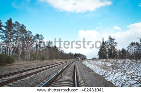 Railway in the winter