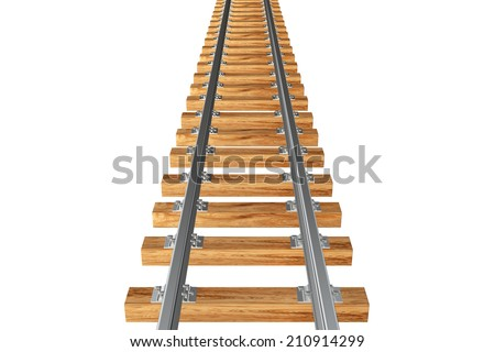 railway. isolated on white background. 3d
