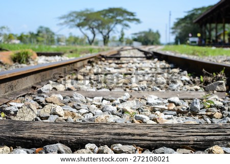 Railway landscape - stock photo