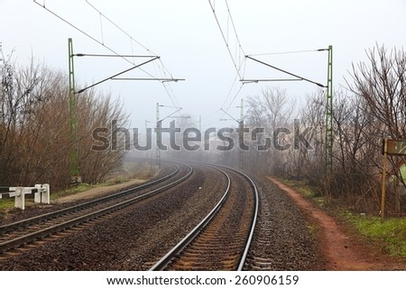 Railway line - stock photo