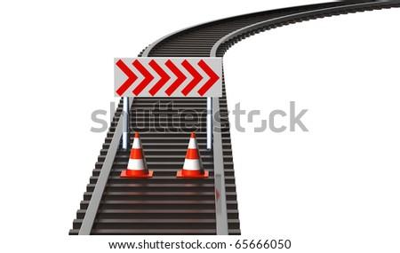Railway maintenance - stock photo
