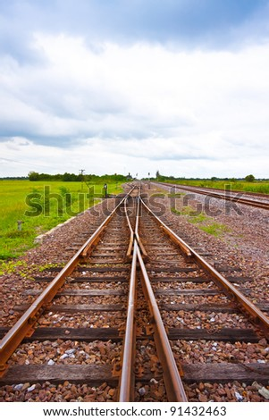 railway on field