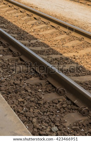 Railway, Railroad, train on the way