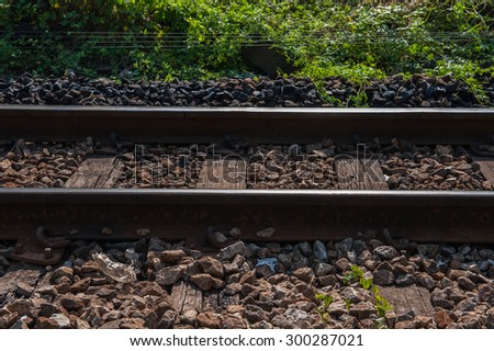 Railway sleepers made of cement