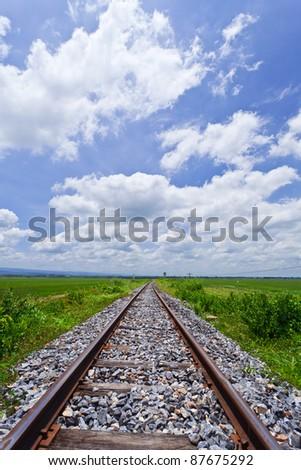 Railway to success. - stock photo