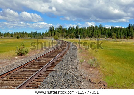 Railway Track in Northern California