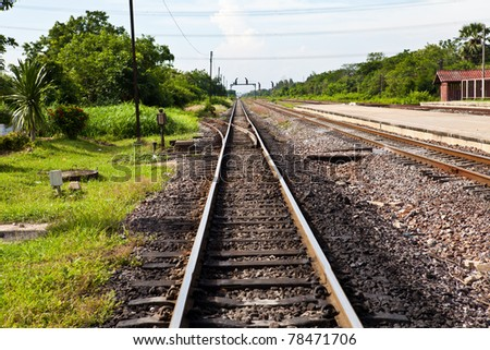 Railway Track with splitter
