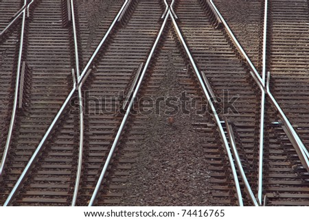 railway tracks - stock photo