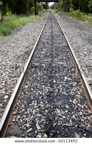 railway tracks with coal spills