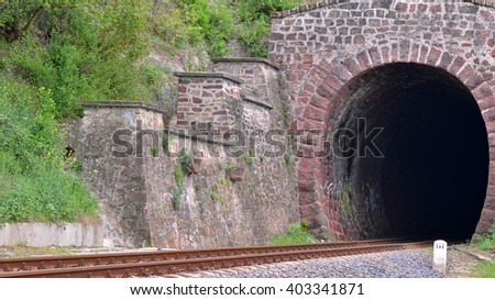 railway tunnel made of stone